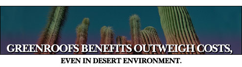 Greenroofs benefits outweigh costs, even in desert environment.