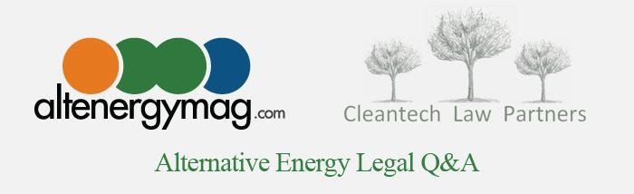 Alternative Energy Leqal Q & A