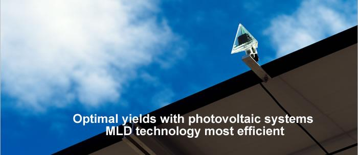 Optimal yields with photovoltaic systems � MLD technology most efficient