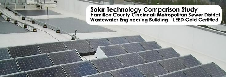 Solar Technology Comparison Study<br>Wastewater Engineering Building - LEED Gold Certified