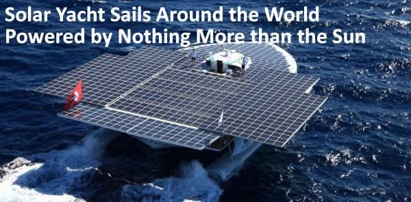 Solar Yacht Sails Around the World Powered by Nothing More than the Sun