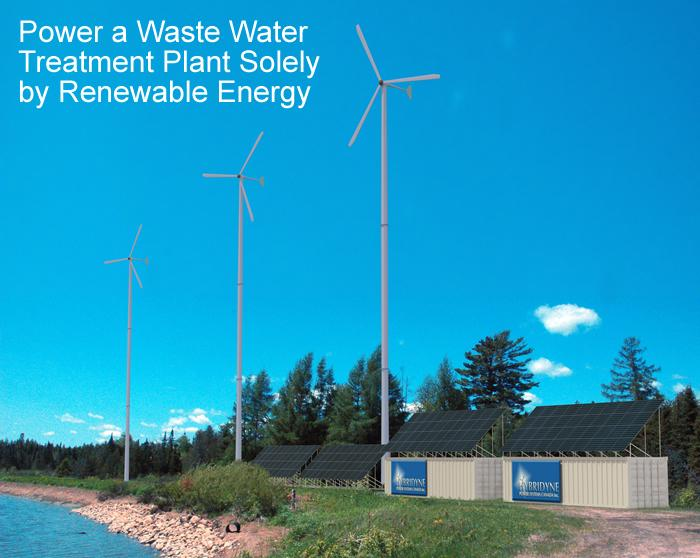 Power a Waste Water Treatment Plant Solely by Renewable Energy