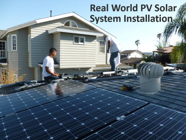 Real World PV Solar System Installation - Part 1
