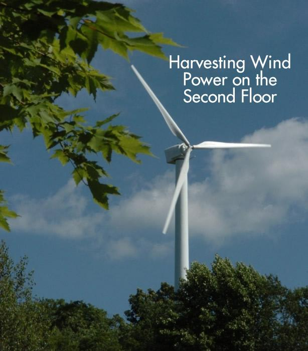 Harvesting Wind Power on the Second Floor