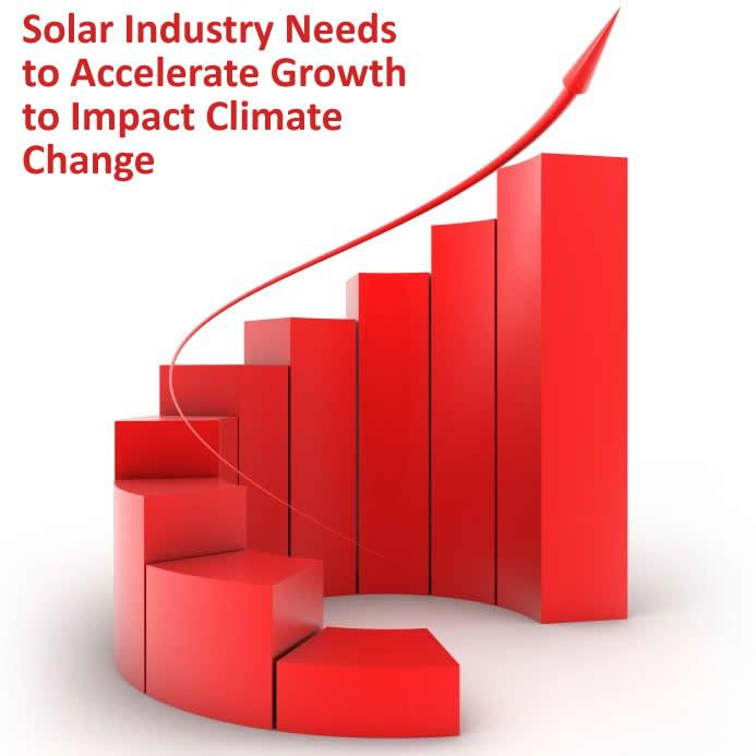 Solar Industry Needs to Accelerate Growth to Impact Climate Change