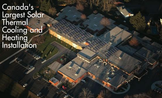 Canada's Largest Solar Thermal Cooling and Heating Installation