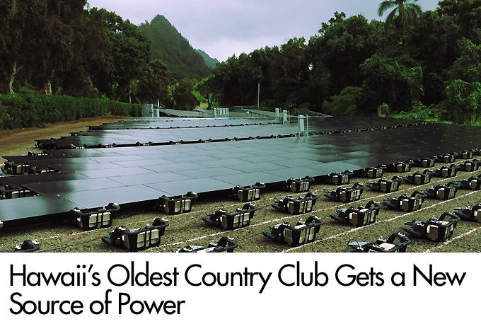 Hawaii's Oldest Country Club Gets a New Source of Power