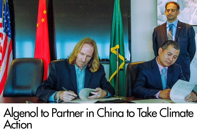Algenol to Partner in China to take Climate Action