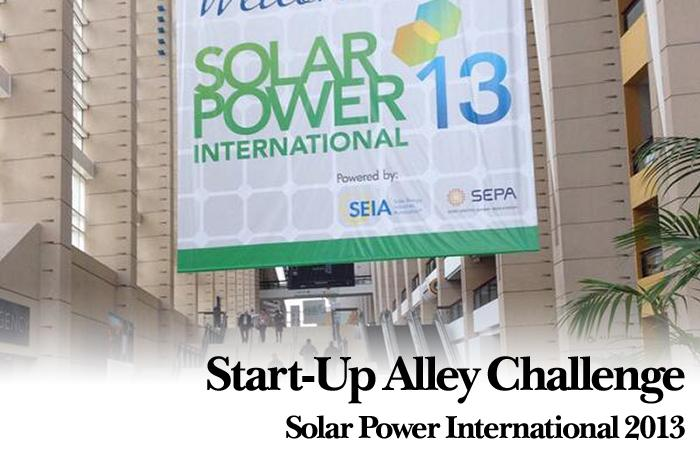 Solar Power International 2013: Start-Up Alley Challenge