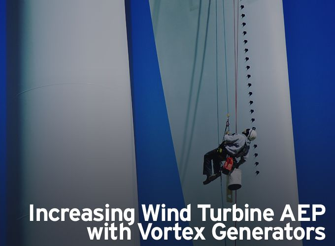 Increasing Wind Turbine AEP with Vortex Generators