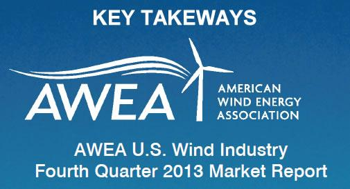 Key Takeaways from the AWEA U.S. Wind Industry Fourth Quarter 2013 Market Report