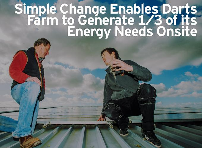Simple Change Enables Darts Farm to Generate 1/3 of its Energy Needs Onsite