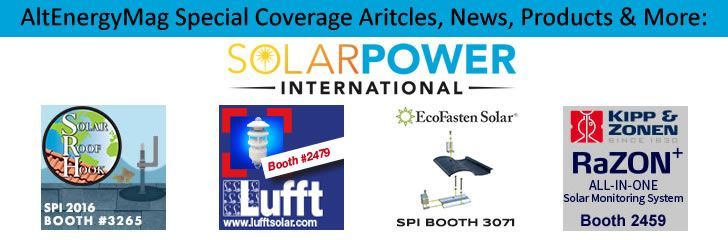 AltEnergyMag.com - Special Tradeshow Coverage of Solar Power International 2016