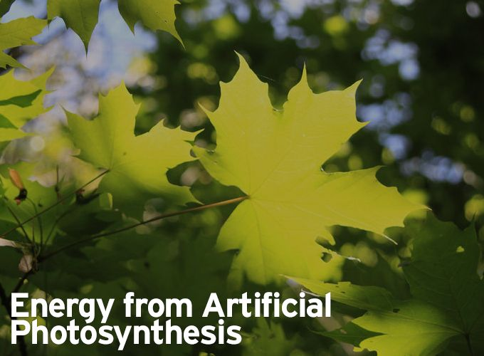 Energy from Artificial Photosynthesis