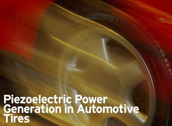 #1 Article for 2018 - Piezoelectric Power Generation in Automotive Tires