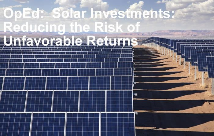 Solar Investments: Reducing the Risk of Unfavorable Returns