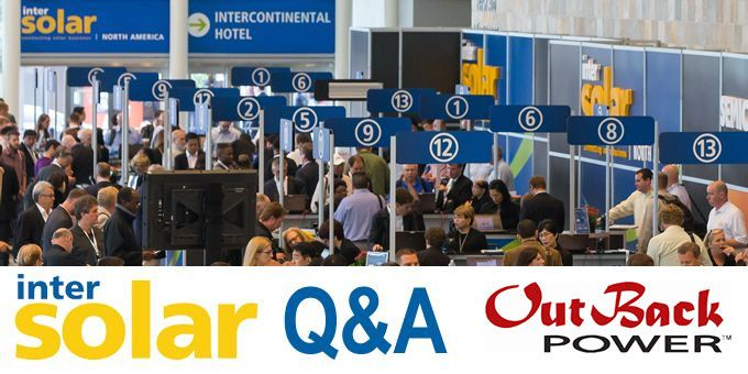 Talking Intersolar with Outback Power