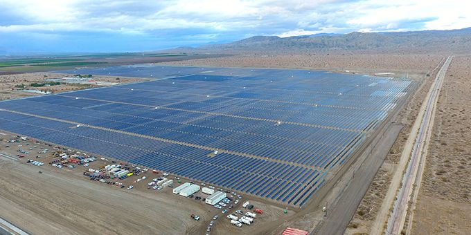 Utility Solar Project in Riverside County, California