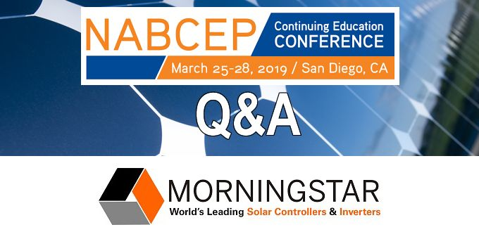 Q&A with Morningstar, The NABCEP Continuing Education Conference