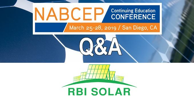 Q&A with RBI Solar, The NABCEP Continuing Education Conference