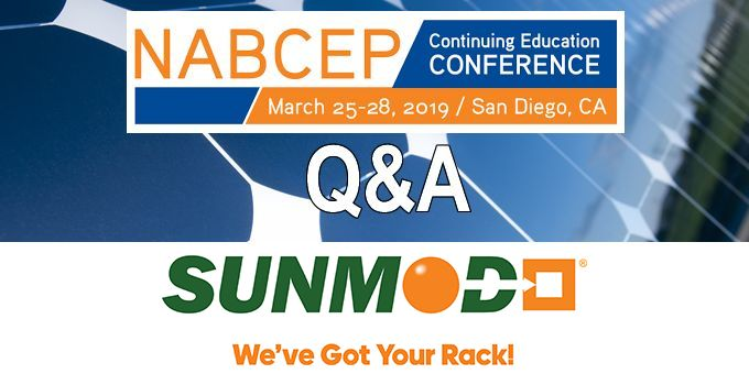 Q&A with SunModo, The NABCEP Continuing Education Conference