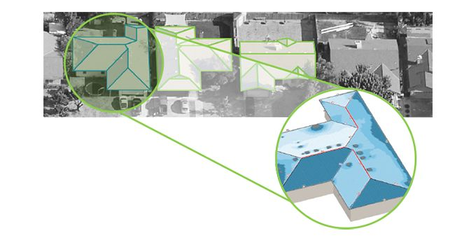 Using Aerial Imagery for Roof Measurements and Shading Analysis