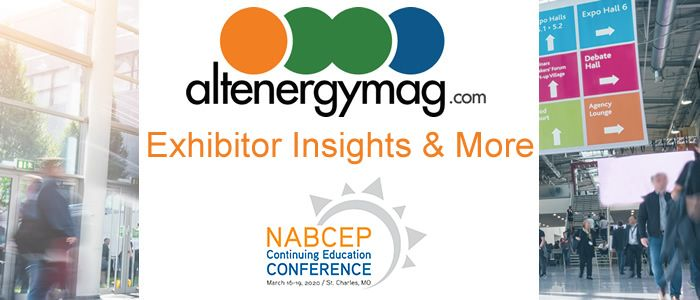 AltEnergymag - Exhibitor Insights and News from NABCEP (Part 1)