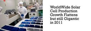 WorldWide Solar Cell Production Growth Flattens but still Gigantic in 2011