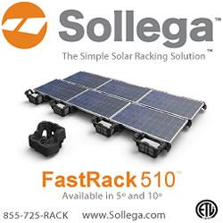 Sollega – The simple solar racking solution for flat roof or ground mount PV installations.