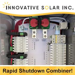 Innovative Solar - Rapid Shutdown® Combiner Box!
