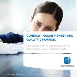 Conergy � Local expertise backed by global strength.