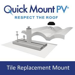 Tile Replacement Mount from Quick Mount PV