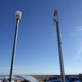 Weather station at big solar plant installed by PPE