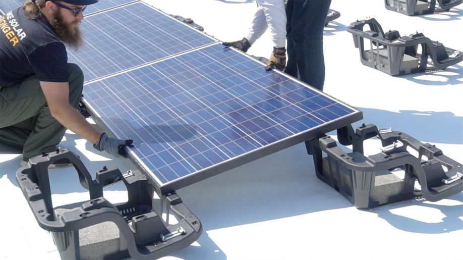 Choosing The Right Solution Solar On Flat Roofs Ballasted Attached Hybrid Altenergymag